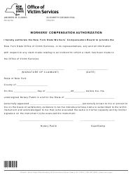 "Form I-15 ""Workers' Compensation Authorization"" - New York"