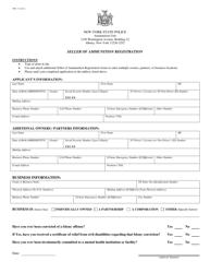 "Form PPB-7 ""Seller of Ammunition Registration"" - New York"