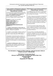 "Form AFF-1I ""Affidavit for Death Benefits"" - New York (Italian)"