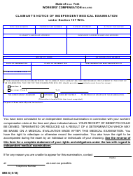 "Form IME-5 ""Claimant's Notice of Independent Medical Examination"" - New York"