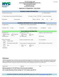 """Application for Registration - Char Broiler"" - New York City"