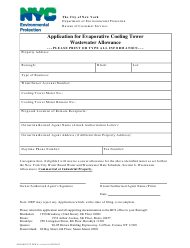 """""""Application for Evaporative Cooling Tower Wastewater Allowance"""" - New York City"""