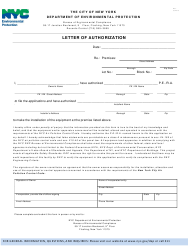 """""""Letter of Authorization"""" - New York City"""