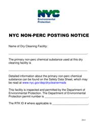 """Nyc Non-perc Posting Notice"" - New York City"