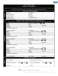 """Exhibit B """"Coversheet - Consultant/Subcontractor Approval Form for Discretionary Contracts"""" - New York City"""