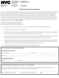 """Linc Iii Program Participant Agreement Form"" - New York City"