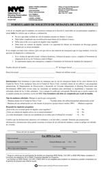"""""""Formulario De Solicitud De Mudanza De La Seccion 8"""" - New York City (Spanish)"""