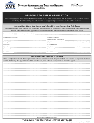 """Form APP18 """"Response to Appeal Application"""" - New York City"""