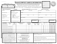 Form AD-4 Waste/Compost Sample Information - North Carolina