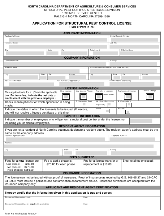 Form 18 Fillable Pdf