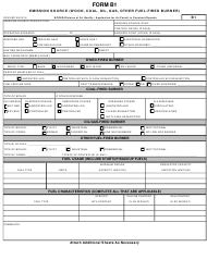 Form B 1 Application for Air Permit to Construct/Operate - Emission Source (Wood, Coal, Oil, Gas, Other Fuel-Fired Burner) - North Carolina