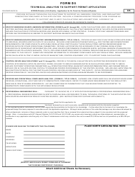 Form D 5 Application for Air Permit to Construct/Operate - Technical Analysis to Support Permit Application - North Carolina