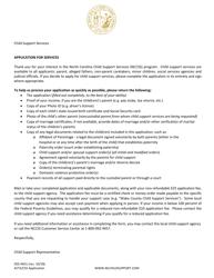"Form DSS-4451 ""Application for Services"" - North Carolina"