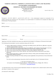 Form F-21 Military Training and Experience Evaluation Form - North Carolina