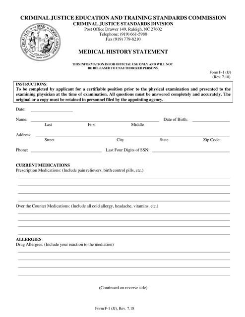 Form F-1 (JJ)  Printable Pdf