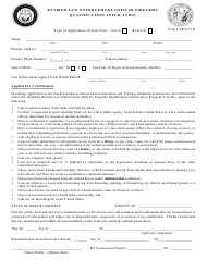 Form F-9R Retired Law Enforcement Officer Firearms Qualification Application - North Carolina
