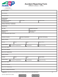 """Accident Reporting Form"" - North Carolina"