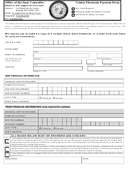 """Vendor Electronic Payment Form"" - North Carolina"