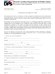 "Form GCC-17 ""Discrimination Complaint Form"" - North Carolina"