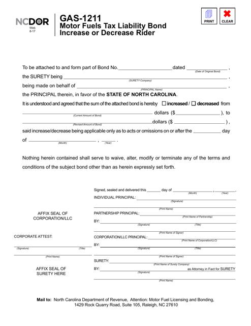 Form GAS-1211  Printable Pdf