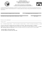 Form DL-DPPA-2 Release of Driver Record - North Carolina