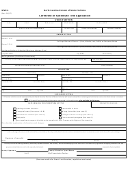 Form MVR-5 Corrected or Substitute Title Application - North Carolina