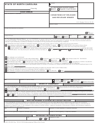 Form AOC-CR-200 Conditions of Release and Release Order - North Carolina
