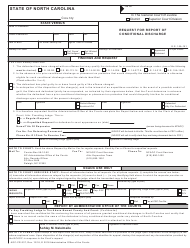 Form AOC-CR-237 Request for Report of Conditional Discharge - North Carolina