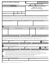 Form AOC-CR-265 Petition and Order of Expunction Under G.s. 15a-149 (Pardon of Innocence) - North Carolina
