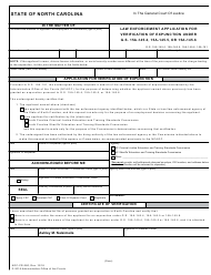 Form AOC-CR-280 Law Enforcement Application for Verification of Expunction Under G.s. 15a-145.4, 15a-145.5, or 15a-145.6 - North Carolina