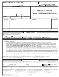 Form AOC-CR-283 Order of Expunction Under G.s. 15a-147(A1) (Identity Theft or Mistaken Identification) - North Carolina