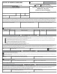 Form AOC-CR-282 Petition and Order of Expunction Under G.s. 15a-145.6 (Prostitution Offenses) - North Carolina