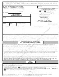 Form AOC-CR-319 Judicial Findings as to Required Dna Sample (English/Vietnamese) - North Carolina