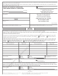 """Form AOC-CV-616 VIETNAMESE """"Motion to Withhold Wages to Enforce Child Support Order"""" - North Carolina (English/Vietnamese)"""