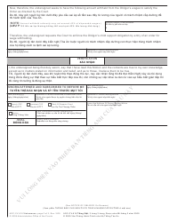 """Form AOC-CV-616 VIETNAMESE """"Motion to Withhold Wages to Enforce Child Support Order"""" - North Carolina (English/Vietnamese), Page 2"""