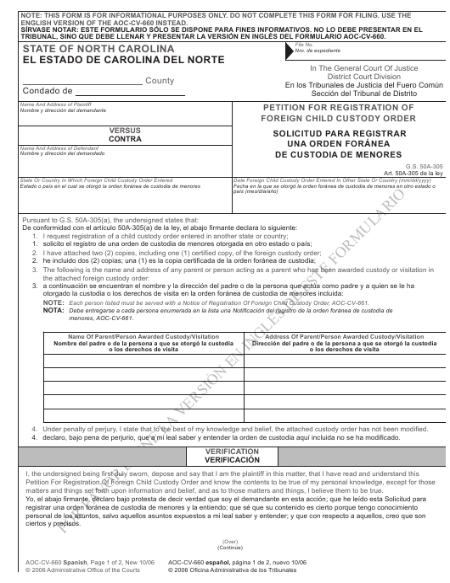 Form AOC-CV-660  Printable Pdf