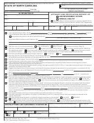 "Form AOC-CVR-1A (DHHS3907) ""Affidavit and Revocation Report of Law Enforcement Officer/Chemical Analyst"" - North Carolina"