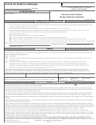 "Form AOC-CVR-2 ""Revocation Order When Person Present"" - North Carolina"