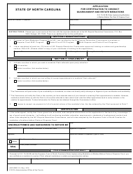 "Form AOC-DRC-10 ""Application for Certification to Conduct Guardianship and Estate Mediations"" - North Carolina"
