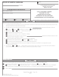 "Form AOC-E-902 ""Civil Contempt Order Failure to File Inventory/Account/Affidavit of Collection/Guardianship Status Report"" - North Carolina"