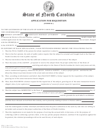 "Form GOV.1 ""Application for Requisition (Normal)"" - North Carolina"