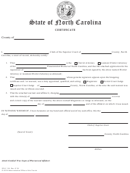 "Form GOV.1-B ""Certificate (To Be Used With Warrant and Affidavit)"" - North Carolina"