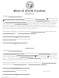 "Form GOV.3 ""Certificate (Cross Certification to Be Used for All Gov. 1 and Gov. 2 Applications)"" - North Carolina"