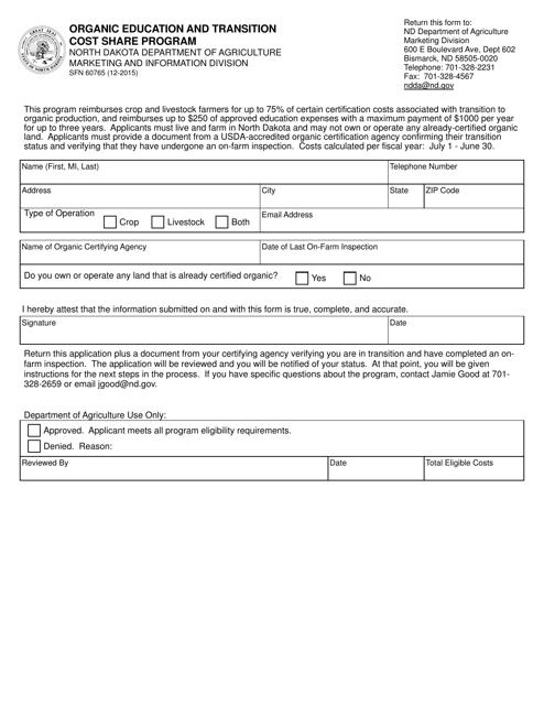 Form SFN60765 Printable Pdf
