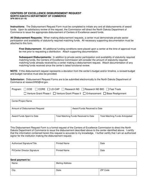 Form SFN59510  Printable Pdf