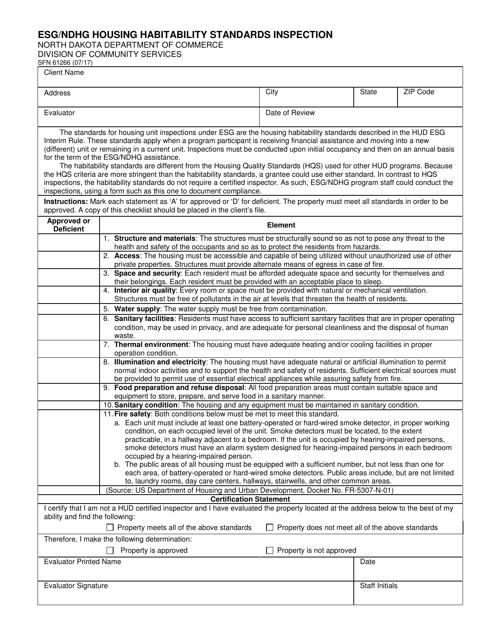 Form SFN61266  Printable Pdf