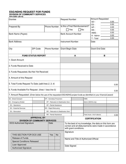 Form SFN52681  Printable Pdf