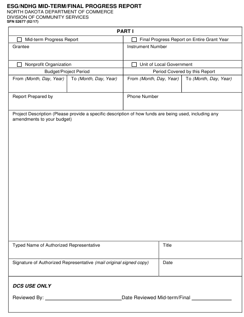 Form SFN52677  Printable Pdf