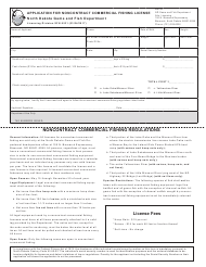 "Form SFN6531 ""Application for Noncontract Commercial Fishing License"" - North Dakota"