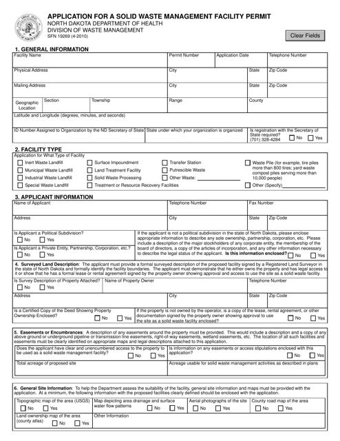 Form SFN19269  Printable Pdf